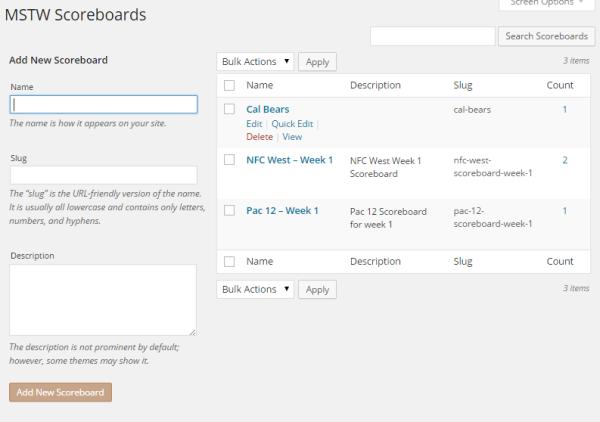 MSTW Scoreboards Screen